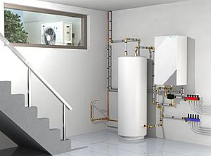 Toplotna črpalka Daikin - namestitev notranje enote toplotna črpalka zrak - voda